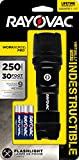 RAYOVAC Virtually Indestructible 250 Lumen 3AAA LED Flashlight with Batteries, DIY3AAA-BE