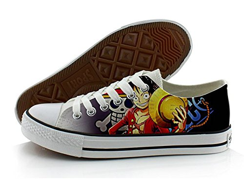 Een Stuk Anime Cosplay Schoenen Canvas Schoenen Sneakers Kleurrijke Laag Uitgesneden 4 Foto 3