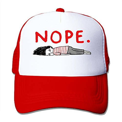 Cool Nope Adult Trucker Mesh Baseball Cap Hat Red (Vineyard Vines Men Hats)
