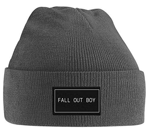 Fall Out Boy 'Logo' Beanie Hat Grey