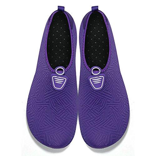 Wasserschuhe Trocknend Badeschuhe Violett Strandschuhe Schwimmschuhe Schuhe Herren Schnell Rutschfeste Msjenny Surfschuhe Barfuß Damen T4Rwx8RI