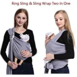 Baby Wrap,Baby Ring Sling Carrier,Baby Holder for Newborns Infants Toddlers to 35 lbs,Nursing Cover,Natural Cotton Postpartum Belt, Perfect Baby Shower Gift by Vicsou