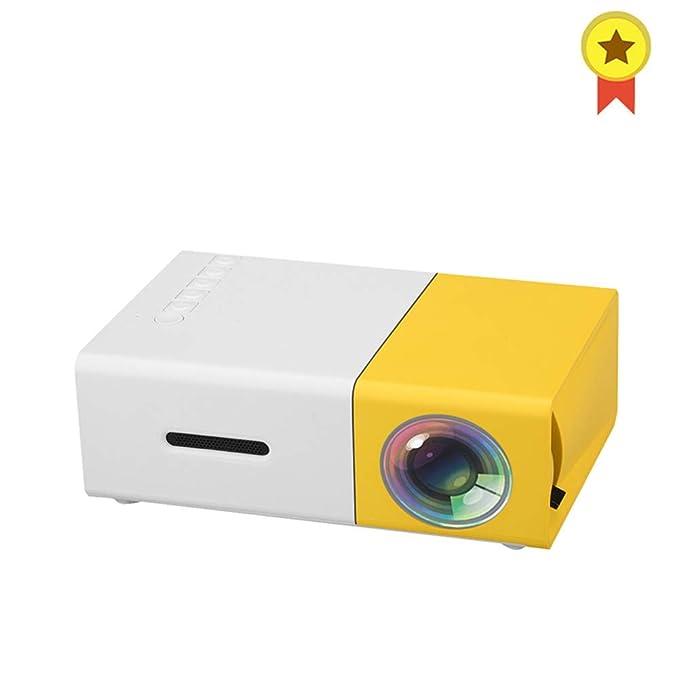 WZHESS Mini proyector casero, 320 X 240P Soporte 1080P AV USB ...