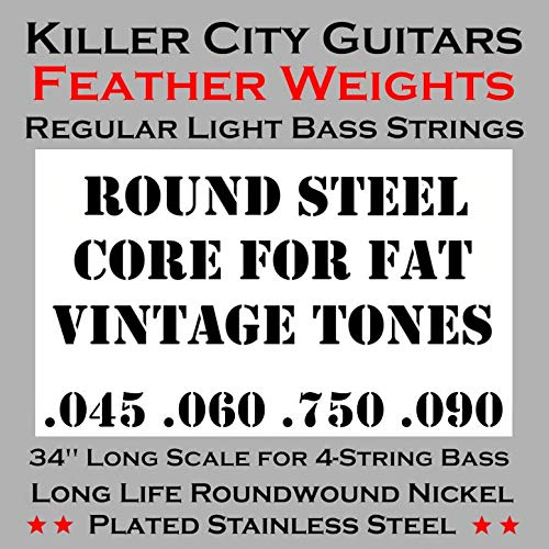 (Weekend Sale) Killer City Guitars Regular Light Bass Strings for 4 String - For Sale Cheap Guitars Bass