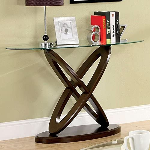 24 7 Shop at Home 247SHOPATHOME IDF-4401S, Sofa Table, Walnut