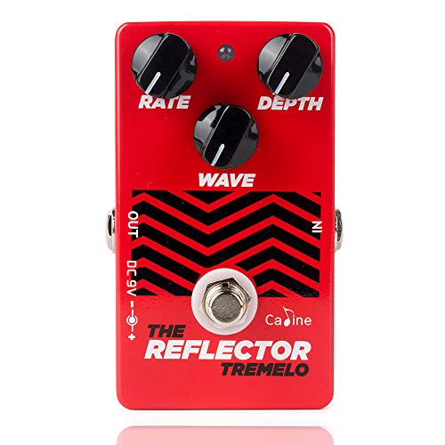 Caline CP-62 Guitar Pedals Tremolo Reflector Effects Distortions Vintage Tube Amplifier True Bypass Red (Bass Guitar Tremolo)