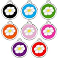 CNATTAGS Stainless Steel with Enamel Pet ID Tags Designers Round Daisy from CNATTAGS LLC