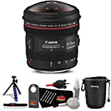 Canon EF 8-15mm f/4L Fisheye USM Lens Professional Kit International Model