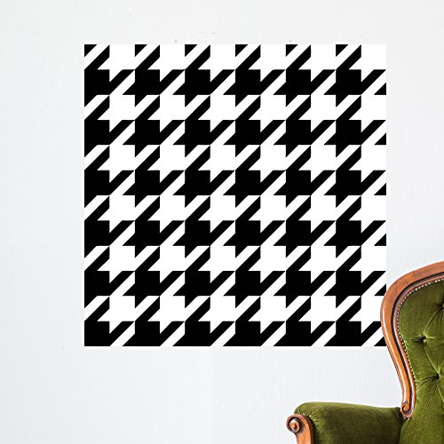 Wallmonkeys Classic Houndstooth Wall Mural by Color Bakery (36 in H x 36 in W) WM341368 (Large Houndstooth Color)
