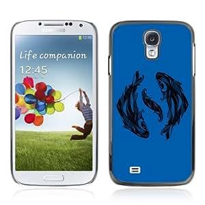 Designer Depo Hard Protection Case for Samsung Galaxy S4 / Beautiful Fish Zodiac Sign