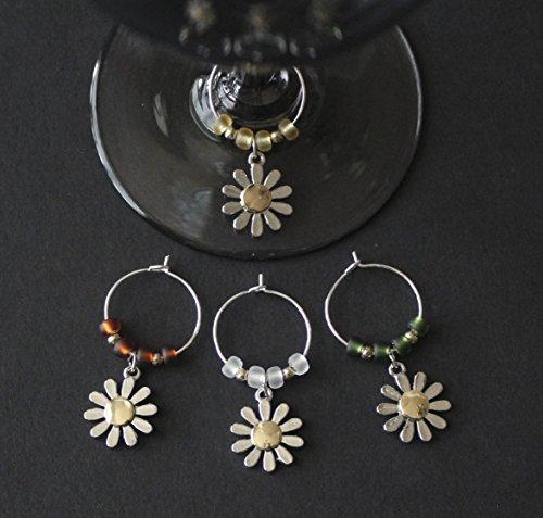 Daisy Wine Glass Charms-Set of - Wine Daisy