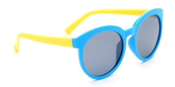 TIJN niños TODDLER Flexiable goma polarizadas oval gafas de sol para niños niñas edad 3 –