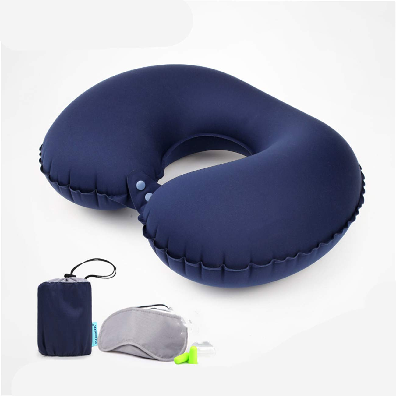U-Shaped Pillow Travel Portable Pillow Inflatable U-Shaped Pillow Aircraft high-Speed Rail Motor Equipment Compact and Easy to accommodate by Shwk