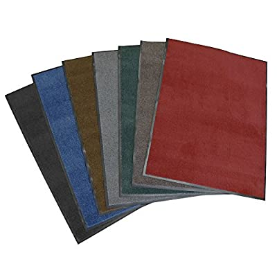 "Rubber-Cal ""Soft Top Olefin"" Carpet Mat - Sold in 7 Sizes - 6 Colors (Charcoal, Red, Green, Chocolate, Pebble Brown, Blue)"