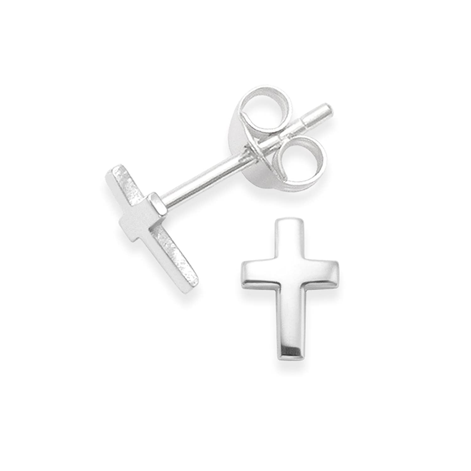 steel com amazon stud for gold stainless silver women small men pairs piercing earrings jewelry black dangle cross and dp studs