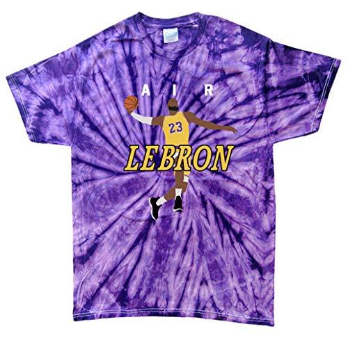 TIE-DYE Purple Los Angeles Lebron AIR PIC T-Shirt Adult
