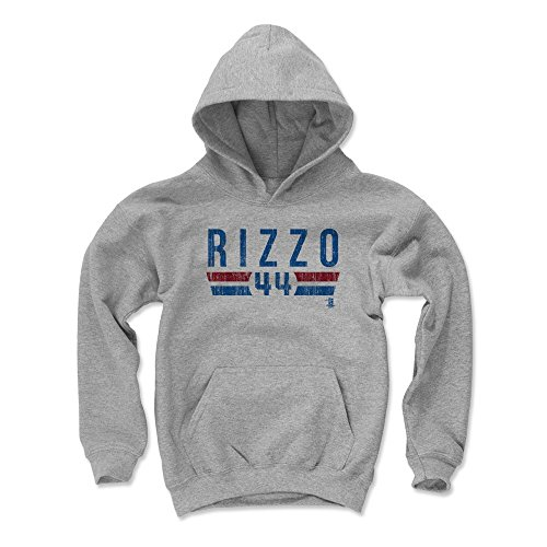 500 LEVEL Anthony Rizzo Chicago Cubs Youth Sweatshirt (Kids Small, Gray) - Anthony Rizzo Font B