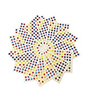 DoTebpa 150 Sheets 13200 Pcs Self Adhesive Star Stickers Labels,88Per Every Sheet,Multi Color -Teacher Supplies