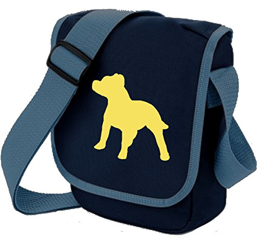 Gift Mini Bag Reporter Staffie of Shoulder Staffordshire Blue Terrier on Colours Dog Bag Staffy Bull Choice Fawn qxwzTB