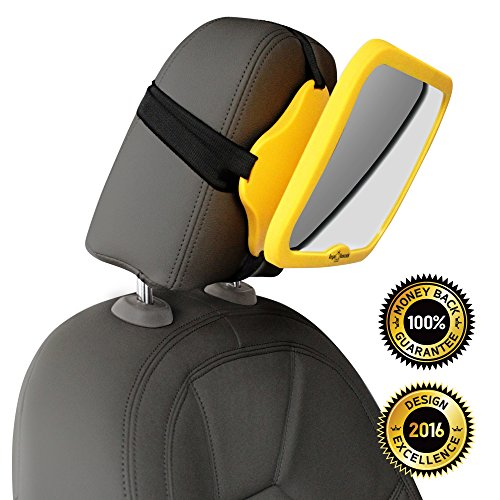 UPC 634158469879, WHY SAFETY YELLOW? CLICK TO SEE! THE #1 safest baby car mirror for rear facing baby seat , 100% shatterproof , PREMIUM SAFETY BONUS Baby on Board sign BONUS