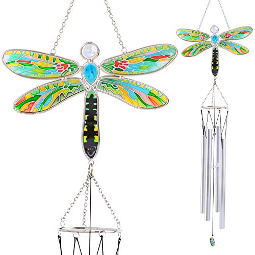 Wind chimes,Wind chimes outdoor,Dragonfly wind chimes,Windchimes unique outdoor,Windchime,Windchimes,Gifts for mom,Memorial wind chimes,Father's day gifts,hooks,wind chimes outdoor large deep ()