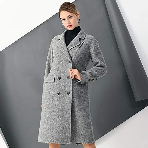 Boucle E Donna Da Maniche Ricamo Giacca Autunno Vioy Lana Lunghe A grigio In Inverno Vintage Caldo Vento Coat qXZ5wgAR