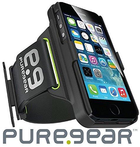 PureGear HIP Sports Armband for iPhone 6s/6 - Black/Green