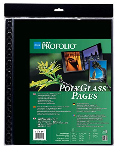 vertical binder x 17 in Itoya Art Profolio Multi-Ring Binder and refills 14 in