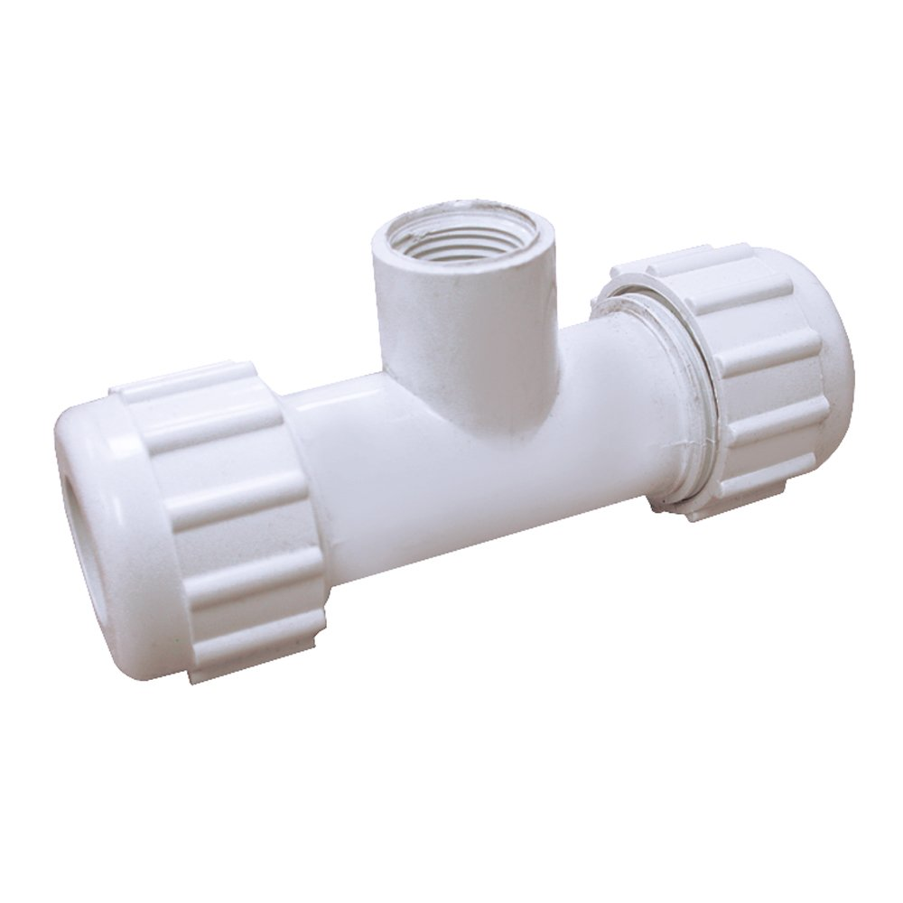 1-1//4-Inch IPS PlumBest C17125R PVC Compression Tee