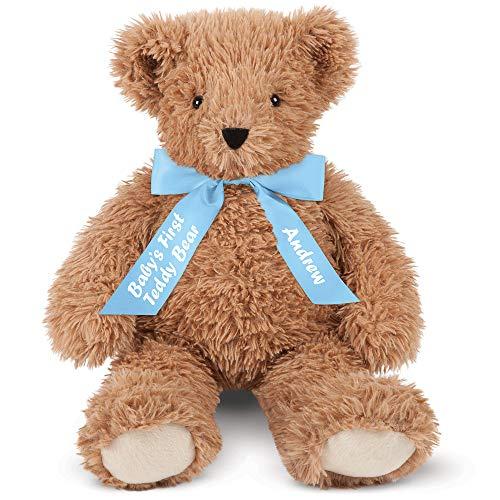 Vermont Teddy Bear Babies First Teddy Bear - Baby Boy Toys, Custom, 18 Inch, Super Soft