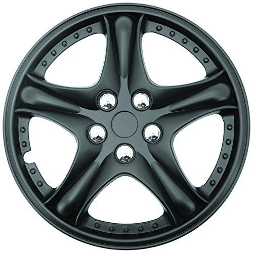 Abs Plastic Wheel Cover - Topline (C80135-15B) Satin Black 15