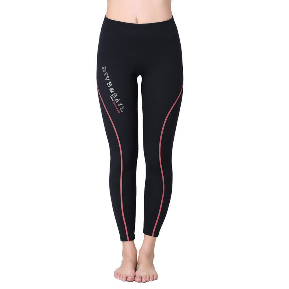 A Point Wetsuit Pant 1.5mm Neoprene Diving PantsWinter Swimming Pants (L, Women's red) by A Point diving
