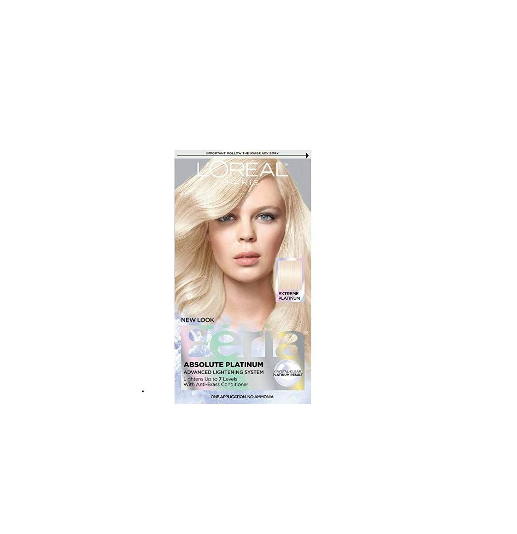 L'Oreal Feria Absolute Platinums Hair Color, Extreme Platinum 1 ea (Pack of 2) by L'Oreal Paris