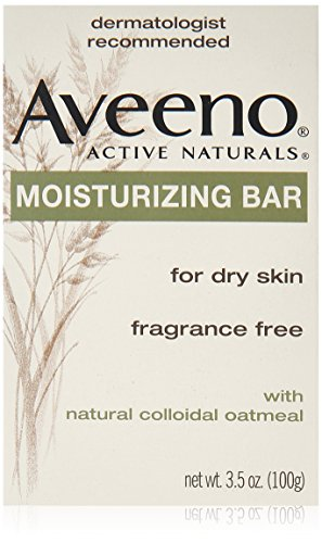 Aveeno Fragrance Free Cleanser (Aveeno Active Naturals Fragrance-Free Moisturizing Bar, 4 Count)