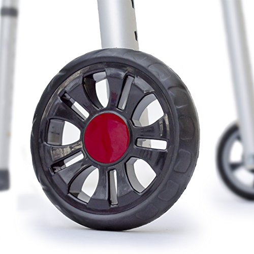 TREADZ/Sport Edition: Universal Walker Wheel Kit with FREE FlexFit Skis (Rockin Red) ()