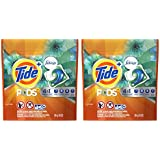 Tide Pods Plus Febreze Laundry Detergent - Botanical Rain - HE Compatible (Works In ALL Machines) - 10 Pacs / Loads Per Package - Pack of 2