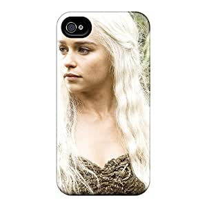 Premium [qMM2009Cxrw]emilia Clarke In Hbo Game Of Thrones Case For Iphone 4/4s- Eco-friendly Packaging BY icecream design