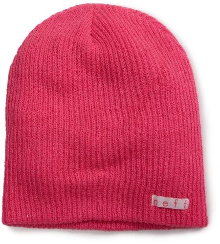 Neff Unisex Daily Beanie, Warm, Slouchy, Soft Headwear, Magenta, One Size