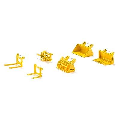 Siku - 7070 - Véhicule Miniature - Modèle À L'échelle - Set Accessoires Pour Chargeur Frontal/ Convenable À 3554, 3652, 3653, 3656, 3862 Et 3863