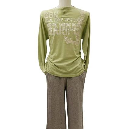 Anchor, pijama de hombre manga larga Verde XL