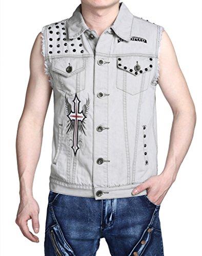 Pizoff Premium Stilvolle Casual Formaljeans Anzug Vest (L (Size US M), T042) (Speed Anzug)