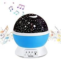 Music Night Light Projector lamp Baby Star Projector 360...