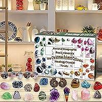Delisouls Kalendarz adwentowy z kryształem leczniczym, Geographic Rock Mineral & Fos sil Dig Kit, kalendarz…