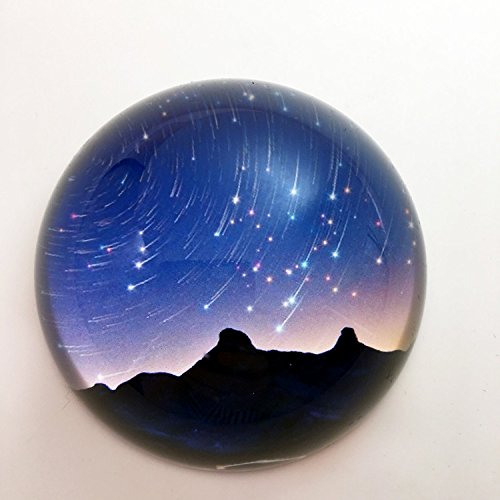 Waltz&F Crystal Meteor Shower Dome Paperweight Galss Globe Hemisphere Home Office Table Decoration