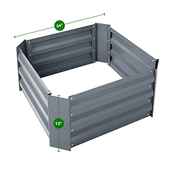 Steel Raised Garden Bed Kit 3 Galvanized steel beds are durable, they don't rot, and they don't breakdown in extreme weather or sun Easy to assemble design gets your garden up and running quickly; spend more time gardening Raised beds and planters promote plant growth and allow for healthier root development