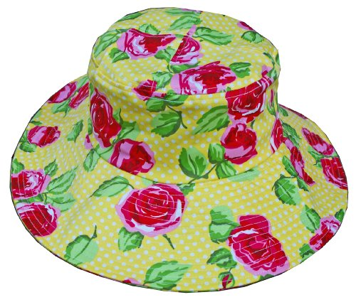 Womanswork 283 Rose Pattern Sun Hat