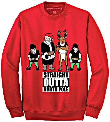 Straight Outta North Pole - Ugly Christmas Sweater (4XL) -