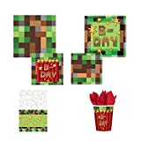 Amscan TNT Pixelated Video Game Deluxe Birthday Party Pack, 16 guests