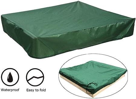 XYLUCKY Cubierta de Caja de Arena con el Lazo,a Prueba de Polvo Impermeable Arenero Piscina