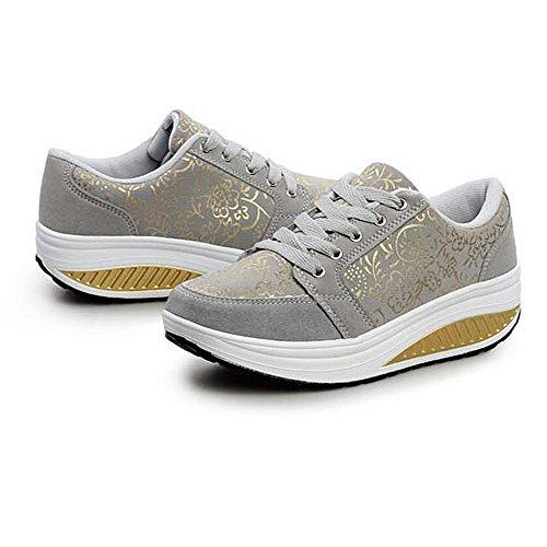 Las Mujeres Zapatos de Deporte Ocasional que Recorre Acuña los Zapatos Gris
